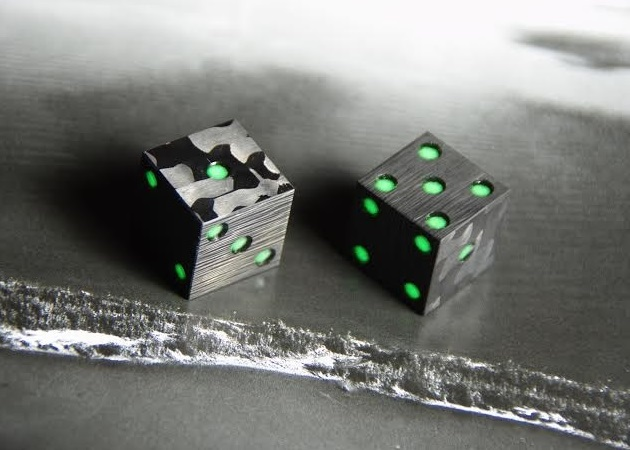Cotocube Carbon Fiber Glow In The Dark Dice Bonjourlife