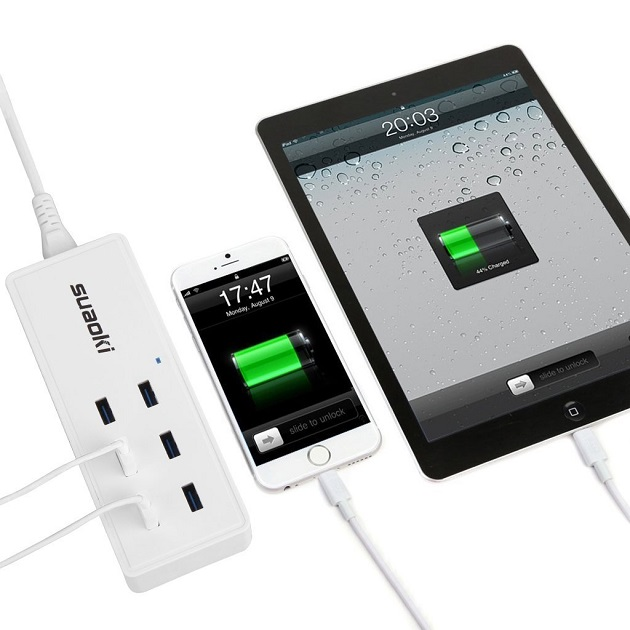 Suaoki is a Family Sized USB Charging Station with Reversible-Plug (4)