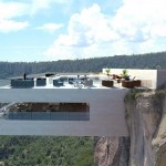 Luxury Cantilevered Restaurant Overhangs Mexico Copper Canyon (3)