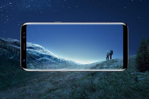Samsung Galaxy S8 & S8+ front landscape minimal bezel