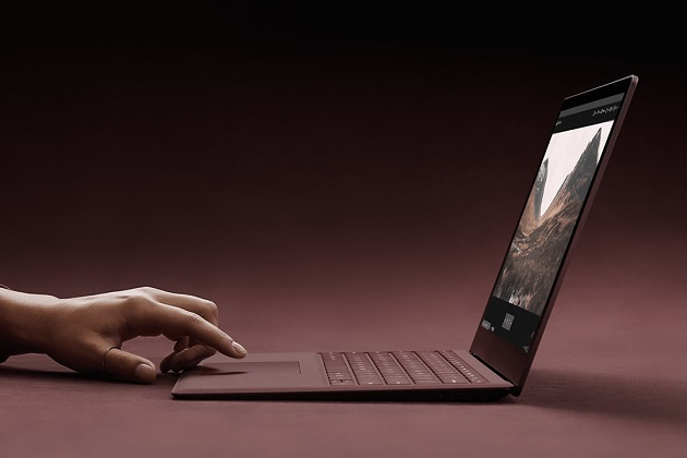 surface laptop burgandy Side view bonjourlife
