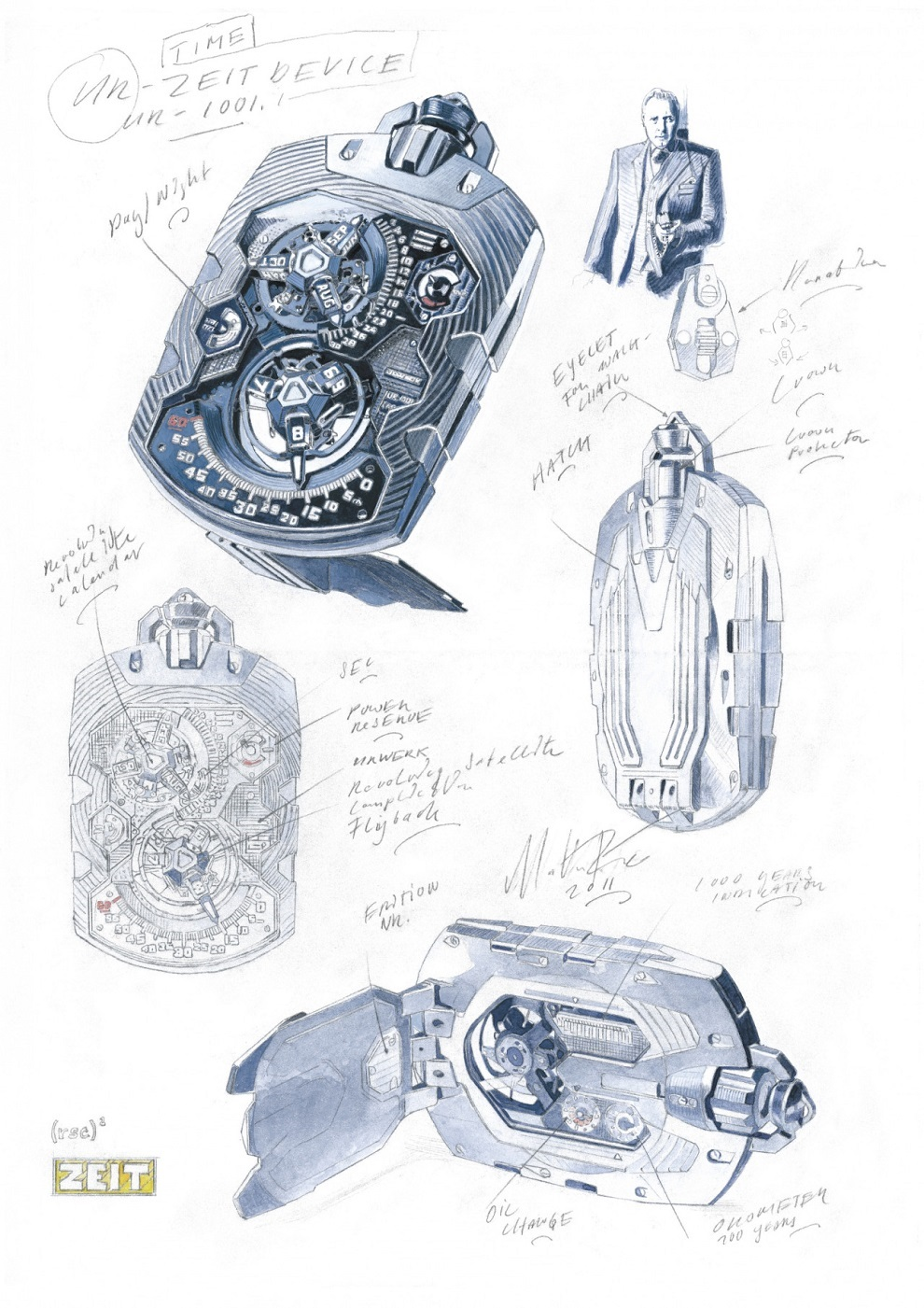 Expensive URWERK UR-1001 TITAN Pocket Watch (5)