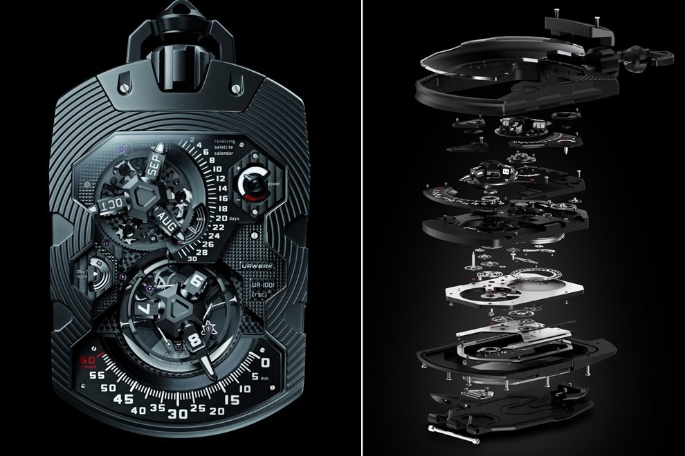 Expensive URWERK UR-1001 TITAN Pocket Watch (3)