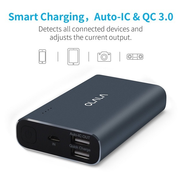 OLALA 10500mAh Aluminum Power Bank with Quick Charge 3.0 (5)