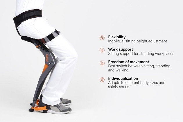 Noonee Chairless Chair Reduces Physical Strain at Work (3)